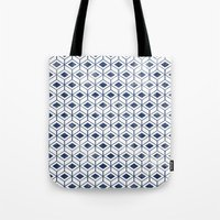 indigo Tote Bags featuring INDIGO by KIND OF STYLE