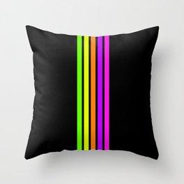 Rainbow Stripes VI Throw Pillow