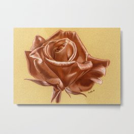 Sanguine Rose Metal Print