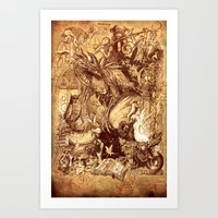 medieval Art Prints featuring Medieval by TheMagicWarrior