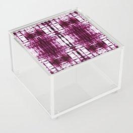 Black Cherry Plaid Shibori Acrylic Box
