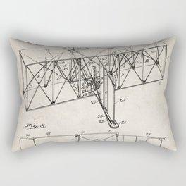 Wright Brother's Machine Patent - Airplane Art - Antique Rectangular Pillow