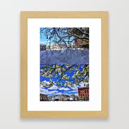 Changing Seasons of Knightville, South Portland, Maine Framed Art Print