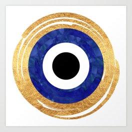 Modern Evil Eye Medallion Art Print