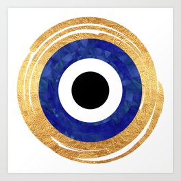 Modern Evil Eye Medallion Art Print