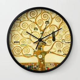 Gustav Klimt The Tree Of Life Wall Clock