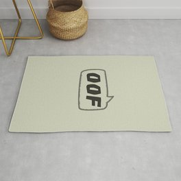 oof - the speech bubble Rug