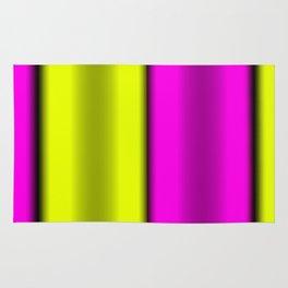 Pink & Yellow  Horizontal Stripes Rug