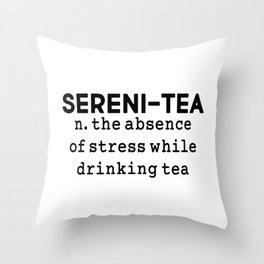Sereni-tea Throw Pillow