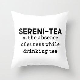 Sereni-tea Throw Pillow