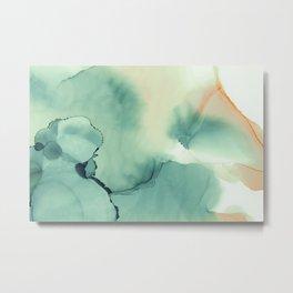 Abstract watercolor green 01 Metal Print