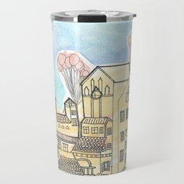 Space Town Travel Mug