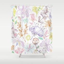 Pale Garden Shower Curtain
