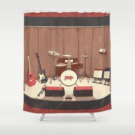 Barrel Rock Shower Curtain