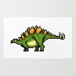 Pixel Stegosaur Rug