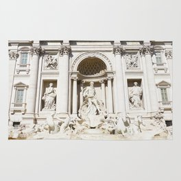 Make a Wish: Trevi Fountain in Rome, Italy Rug