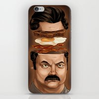 swanson iPhone & iPod Skins featuring Ron Swanson by Dave Collinson