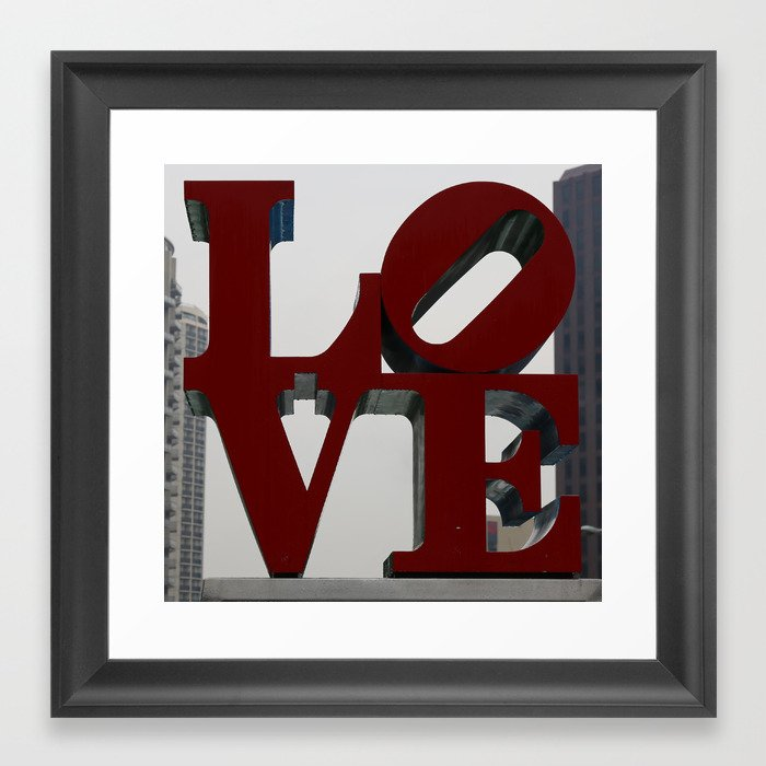 Love Philadelphia Sculpture Framed Art Print