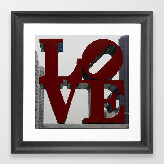 Love Philadelphia Sculpture Framed Art Print
