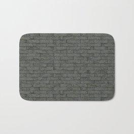 Grey Stone Bricks Wall Texture Bath Mat