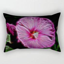 Electric Petunia Rectangular Pillow