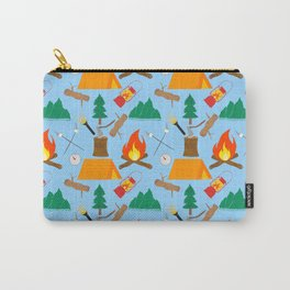 Let's Explore The Great Outdoors - Light Blue Carry-All Pouch