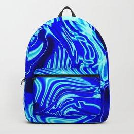 Where Lost Socks Go: Blue Swirled Abstract Backpack