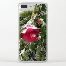 Frozen camellia Clear iPhone Case