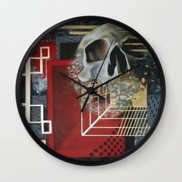 GEOMETRIC SKULL HEAT Wall Clock