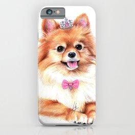 Pomeranian Princess iPhone Case