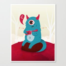 The singing Monster Canvas Print