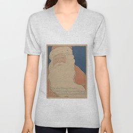 Vintage Santa Claus Illustration (1901) Unisex V-Neck