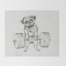 Pug Lift Throw Blanket