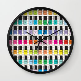 Pantone color Nail Polish Spring color Wall Clock