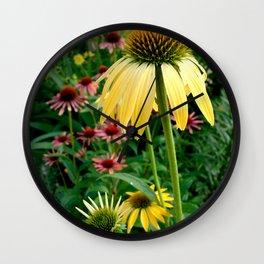 Coneflower Garden Wall Clock
