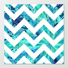 Arctic Blast Chevron Canvas Print