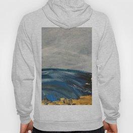 Abstract paintings,nautical, teal, grey Hoody