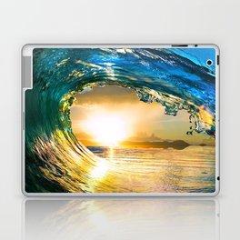 Glowing Wave Laptop & iPad Skin