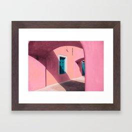 Pink Santorini Framed Art Print