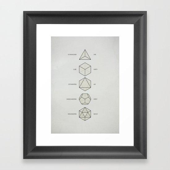 The Platonic Solids Framed Art Print