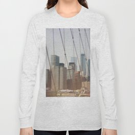 New York from Brooklyn Bridge Long Sleeve T-shirt