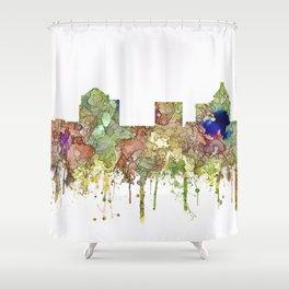 Greensboro, North Carolina Skyline - Faded Glory Shower Curtain