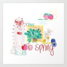 Spring Food Art Print