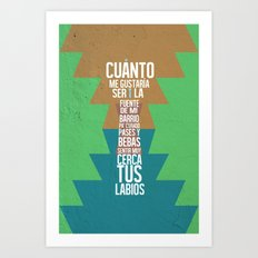 Fuente de las Amapolas Art Print