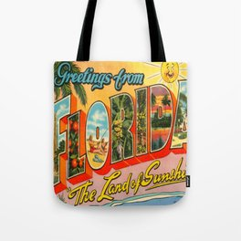 Greetings From Florida Tote Bag