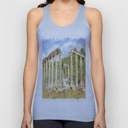 Euromos Ruins Watercolor Unisex Tank Top