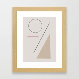 a series of shapes #1 Framed Art Print