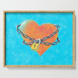 Chained Heart Serving Tray