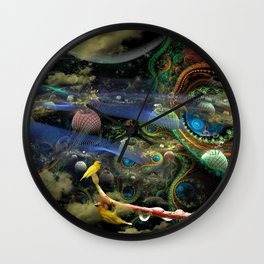The Bioluminoidal Fractalization Process Wall Clock