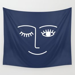 Wink / Navy Wall Tapestry